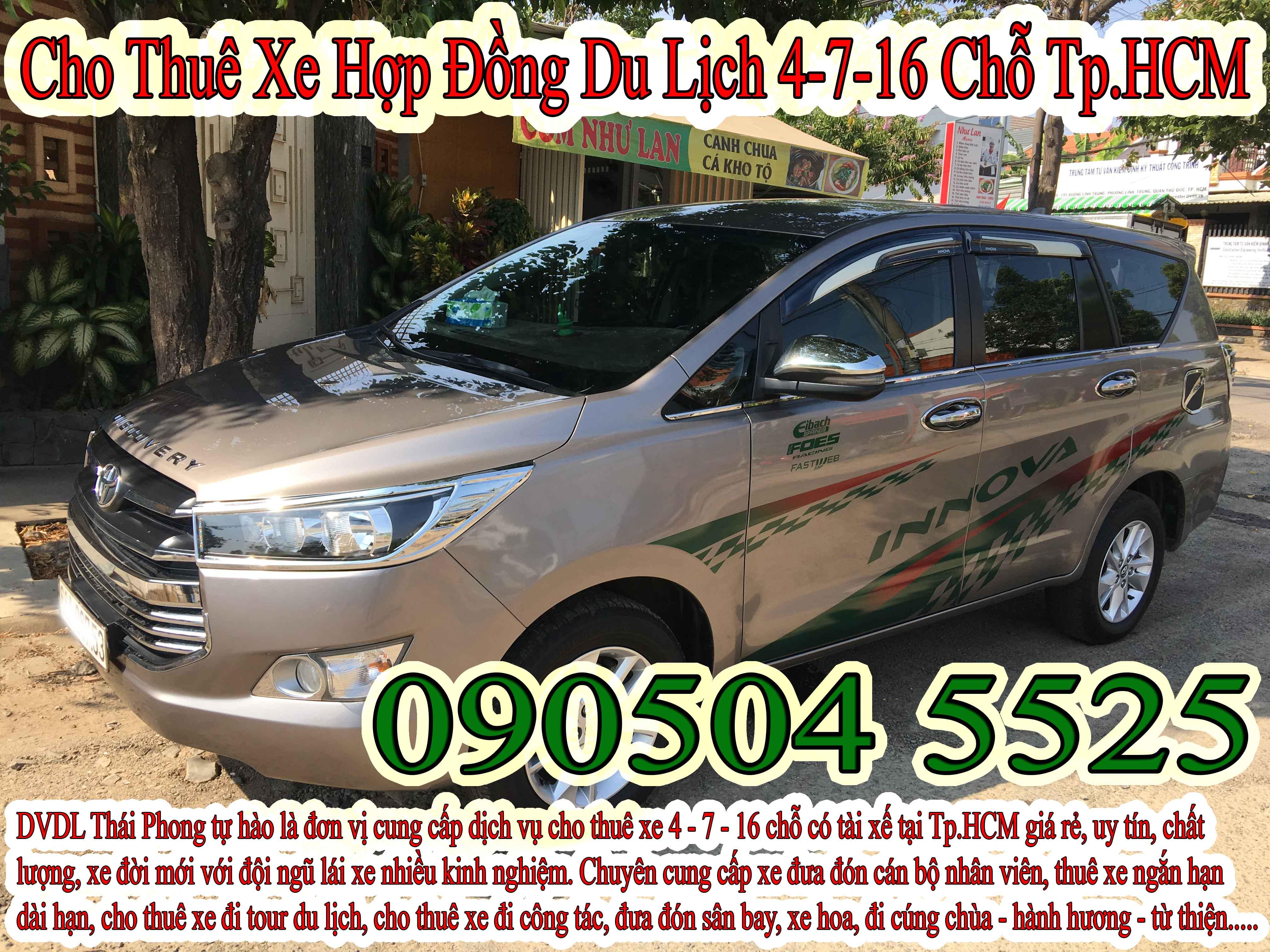 Giá thuê xe hợp đồng du lịch 7 chỗ tại Bệnh viện ở Sài Gòn